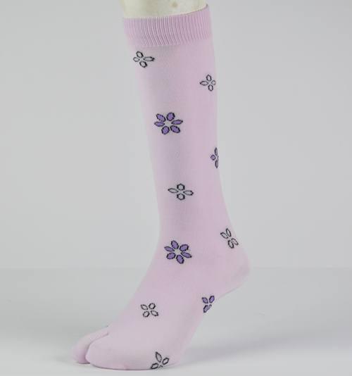 grosir kaos kaki jempol motif bunga murah di bandung
