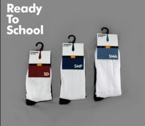 Pabrik Konveksi Produksi kaos kaki sekolah berlogo TK SD/MI SMP/MTS SMA/SMK/MA